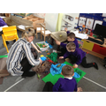 Mrs Melbourne helped to create a dinosaur swamp!