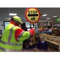 Nursery had a visit from Sarah, the Lollipop Lady.