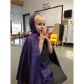 Telling stories (the story telling cloak helps!)
