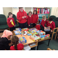 We were helping to create a wet play activity box.