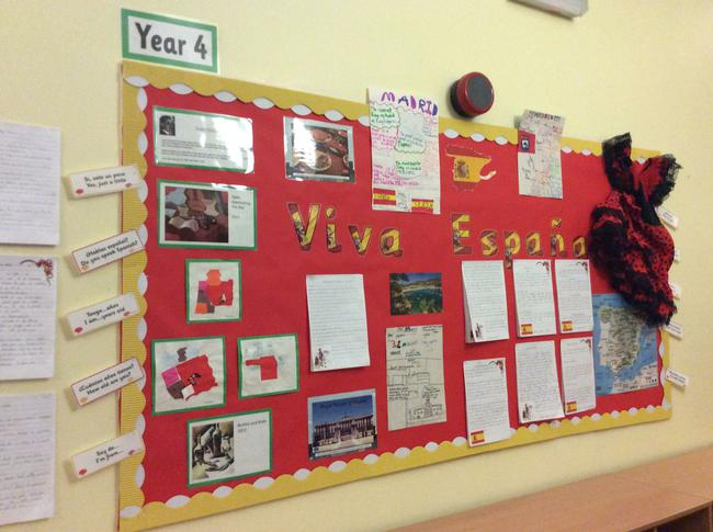 We learnt about Spain for our Topic work