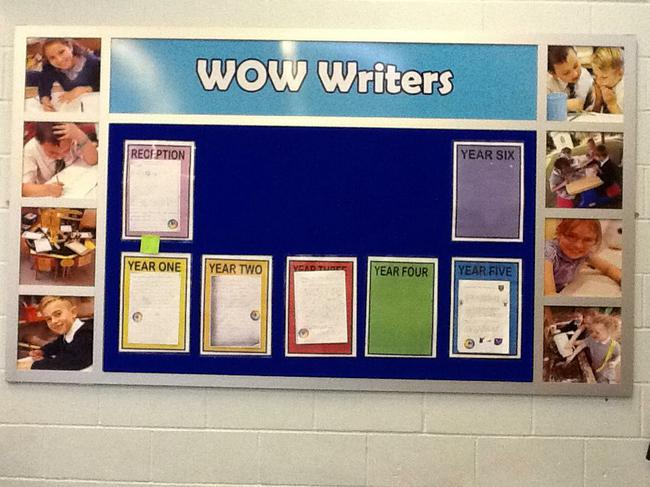 Our Wow Writing Wall
