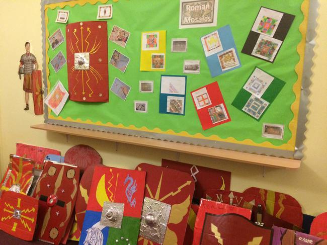 We made Roman shields