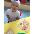 Reception - Making a pizza