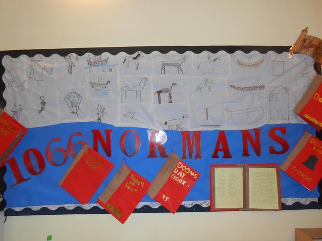 We also made Norman tapestries