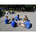Our Year 4 children enjoying a little farewell party in the sunshine...`