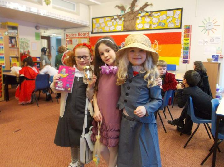 Matilda, a cake fairy and Mary (Secret Garden)