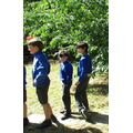 Our Year 4 children enjoying a little farewell party in the sunshine...