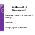 FOUNDATION Maths Parent Workshop