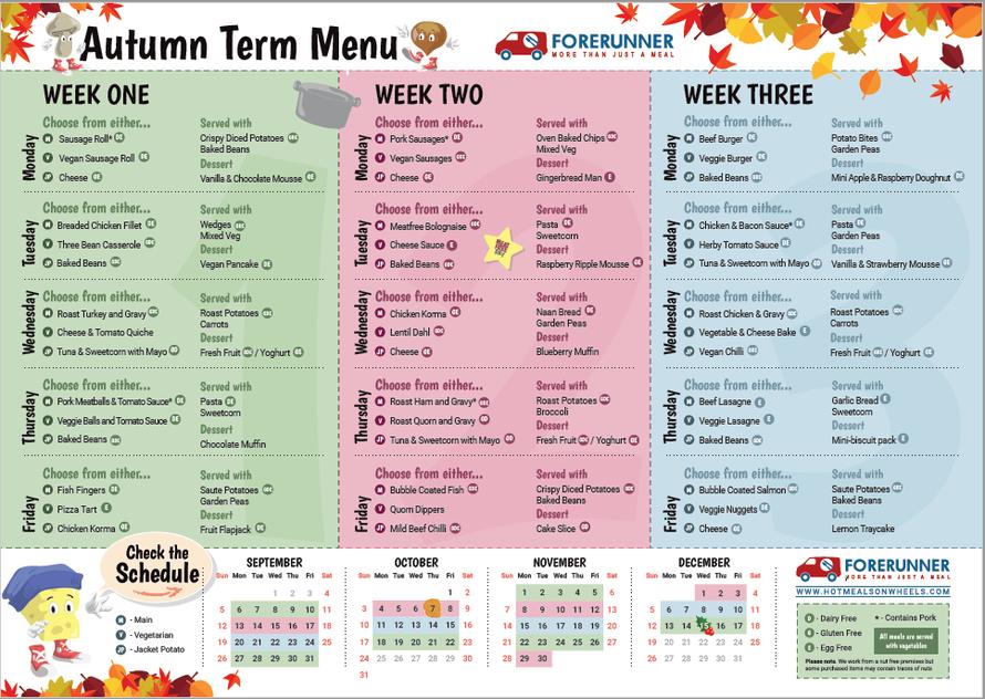 Forerunner - Autumn 2021 Menu