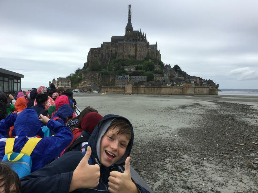 Year 5/6 at Le Mont St Michel, Normandy