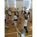 4FO Roman gladiator dance in PE