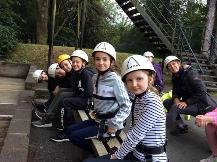 Getting ready for abseiling