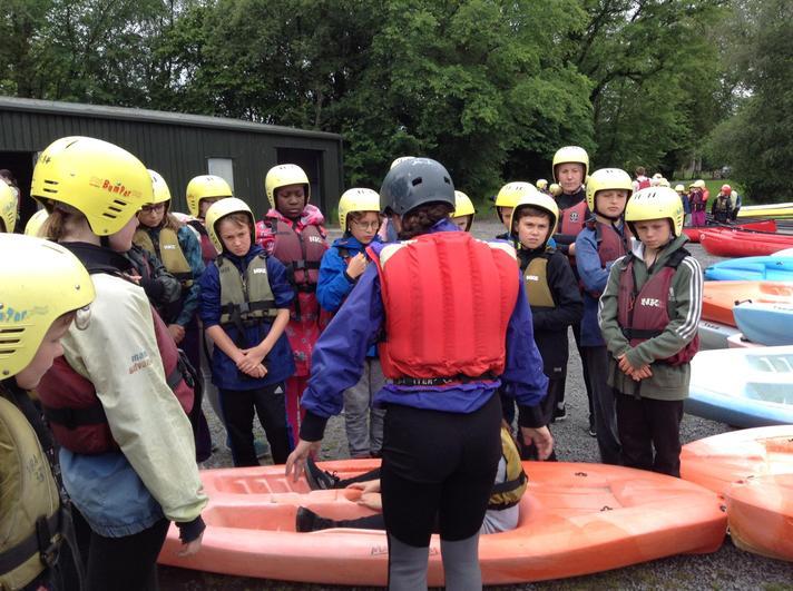 Preparing for kayaking
