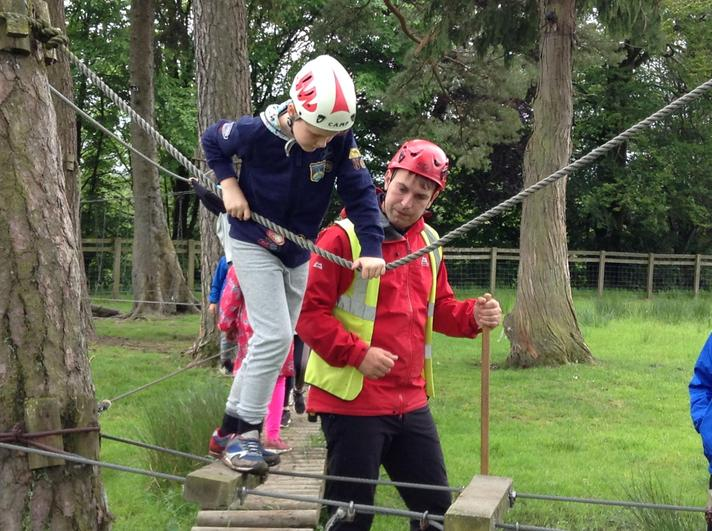 Team work on the Low Ropes