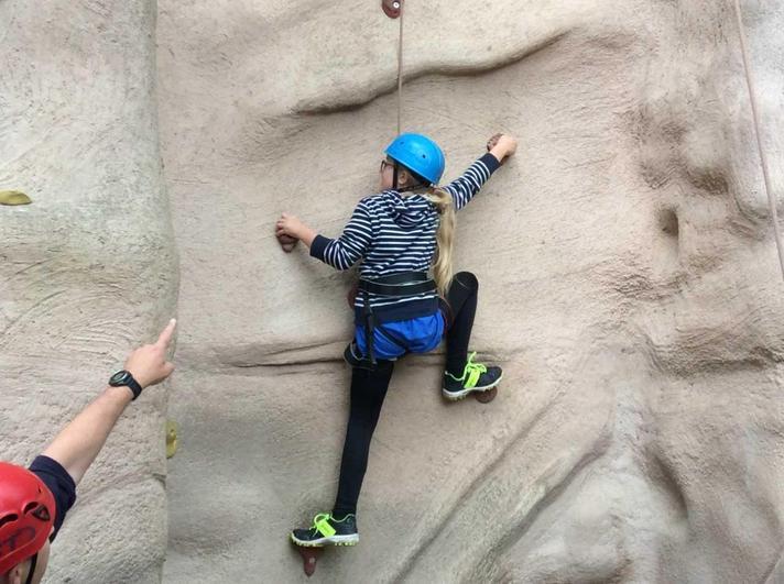 Rock climbing - keep going