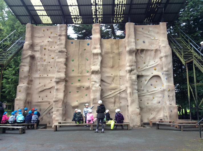 Conquering fears on the abseil wall