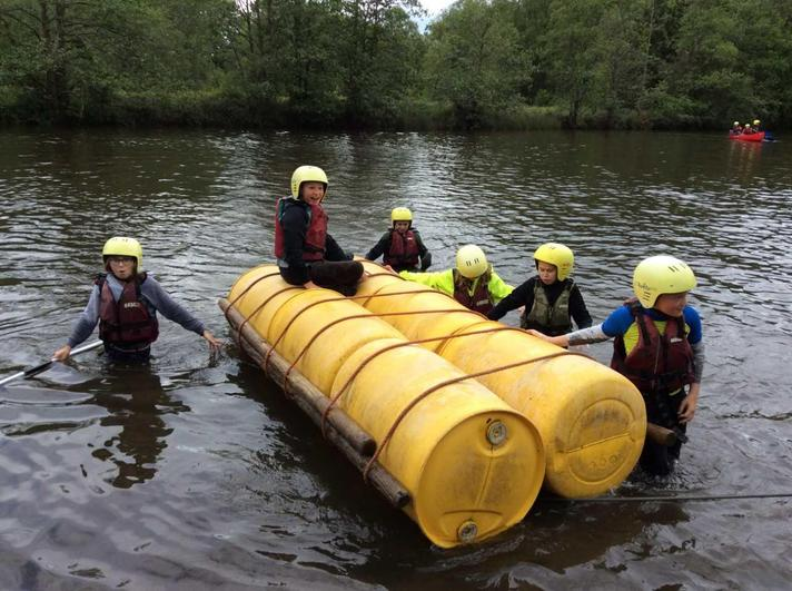 Testing out the raft we built