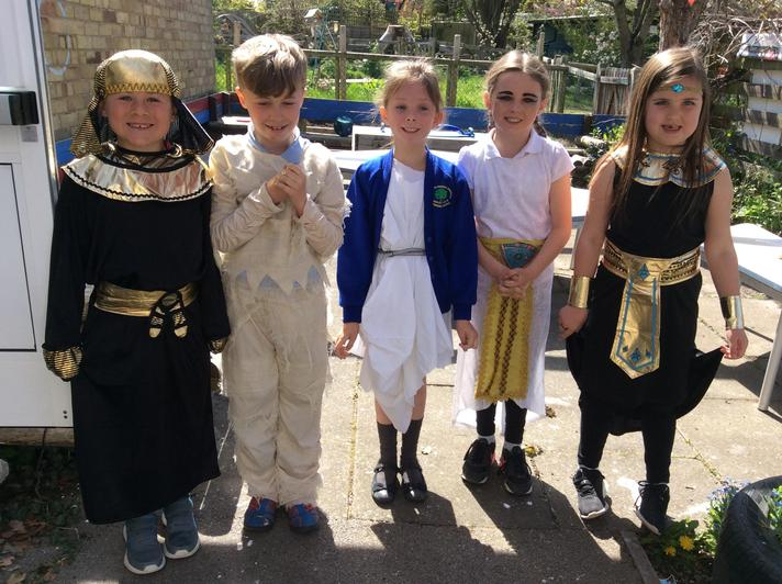 We missed our Egyptian dress up day so we had an option to dress as Greeks or Egyptians.