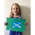 Josie having fun learning about Scotland