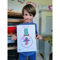Monty designed a superhero medal for VE Day