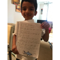 Hussain's incredible shark facts.