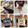 Albie has designed & made a snack bag