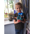 Jack MM has made a dragon using recycled materials