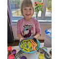 Daisy W created her favourite meal using playdough