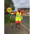 Our new school crossing patrol - Mr Grace.