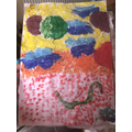 Scarlett C's learnt a new type of art, pointillism