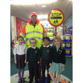 Mr Grace meeting the school council.
