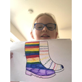 Scarlett C's colourful bear hunting wellies