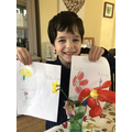 Teddy's observational drawing of spring flowers