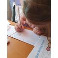 Elena S practises her maths