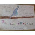 Isla M drew and wrote facts about The Go Away Bird