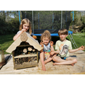 Stella, Monty and Clara made a bug hotel with Dad