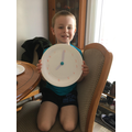 Jack made a clock to practise telling the time