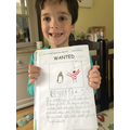 Teddy's creative wanted poster