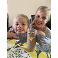 Lexi & Indie made the seagull from their book