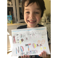 Teddy's creative 'no to plastic' poster
