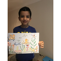 Hussain's colourful ocean scene