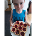 George with his delicious jam tarts.