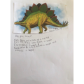 Scarlett C's facts about Dinosaurs