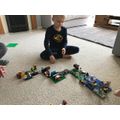 Albie created a Lego board game