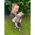 William and his cat.