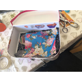 Scarlett C's tastefully decorated suitcase home