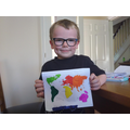 Harry M and his amazing continents map