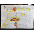 Joe's fantastic hamburger shaped UFO.