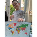 William's exciting journey around the world